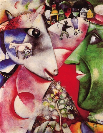 """""""马克·夏加尔(marc chagall)在上世纪如是说,这位超现实主义画家时常图片"""